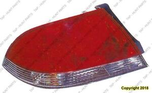 Tail Lamp Driver Side Clear/Red Lens (Es/Ls Mdl) Mitsubishi Lancer 2004-2006