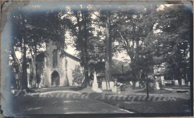 1917 Cooperstown New York Christ Church & Cemetery Entrance Drive Photo