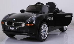 Licensed BMW Z8 12V Child Ride On Car w Leather Seat, Blutooth Remote, Doors, Music, MP3 Audio Input, Led Lights, more