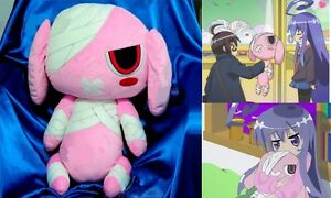 Anime Short Plush Doll.Acchi Kocchi.Miniwa Tsumiki Cosplay.Pink Rabbit.size:60cm