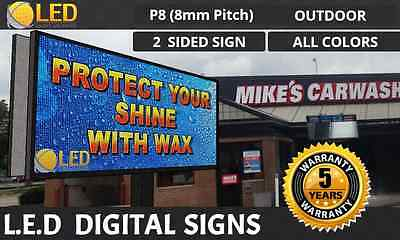 P8 4ft By 8ft 2 Sidedfull Color Outdoor Programmable Led Digital Sign Board