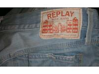 Replay jeans. Size 34w 32L
