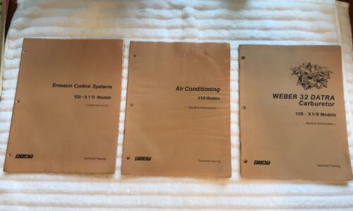 1977 Fiat Student Workbook Technical Training X 1/9 128 Weber