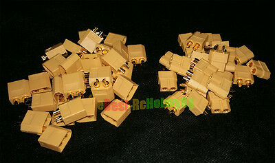 100Pcs / 50Pairs XT60 Bullet Connectors Plugs New Style RC battery Male & Female