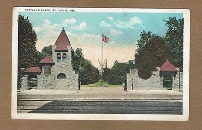 St  Louis Mo Missouri  Portland Place Used 1924