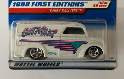 Hot Wheels Dairy Delivery 1998 First Editions #10/48 Rare Error Card New