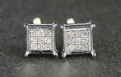 Mens/ladies 10k Gold 4 Mm 4 Prong Diamond Stud Earrings on Sale