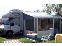 Hymer Camp C546 Motorhome with awning and safari residence room