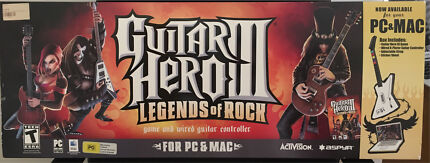 Guitar Hero III game and guitar controller for PC or Mac