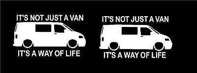 its not just a van its a way of life campervan transporter funny joke sticker