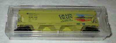 "N - MTL 94070; ""Grain Train"" BLMR #1018 - 3-bay ACF center flow covered hopper for sale  Canada"