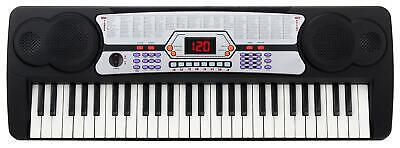 Teclado Electronico Piano 54 Teclas Organo para Ninos 100 Sonidos Set Microfono