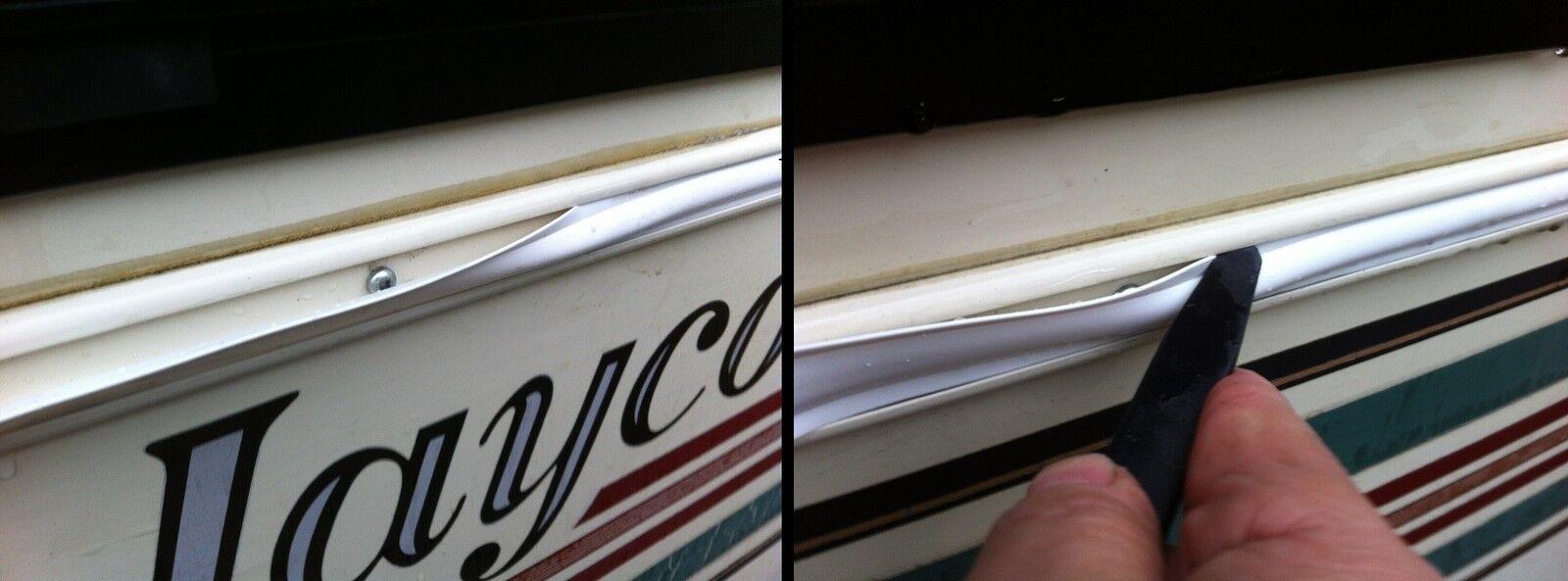 1 X 75 Ft Black Vinyl Trim Molding Screw Cover Rv Boat Camper Travel Trailer Picclick