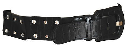 Black Sci-Fi Gothic Fantasy Space Age SteamPunk Wide Psychobilly Utility Belt