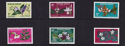 Gabon - 1972 Flowers - U/M - SG 449-454