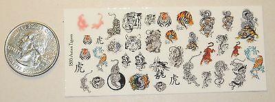 1/18 Scale Custom Tattoos: Tigers variety pack - Waterslide
