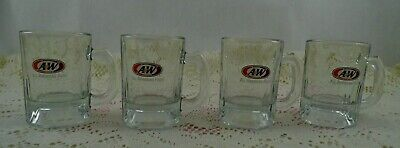 4-Pc. Lot A&W Root Beer - Mini Kid/Child Size Mugs/Steins - All American Food