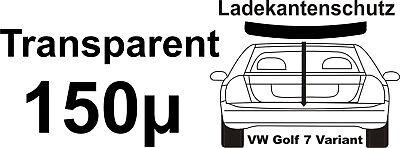 Lackschutzfolie Ladekantenschutz für VW Golf 7 Variant Kombi transparent 150µ