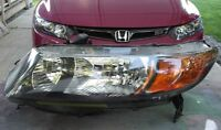 2006 2007 2008 HONDA CIVIC COUPE LEFT HEADLIGHT