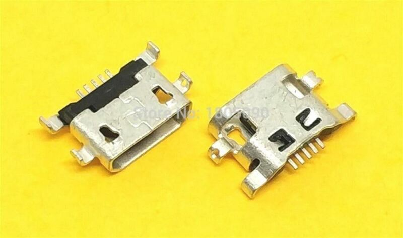 100pcs Micro USB reverse heavy plate 1.2 Charging Port Connector for