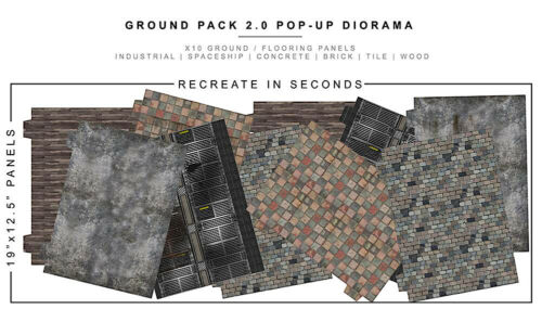 Extreme-Sets Ground Pack 2.0 1/12 Scale Diorama for Action Figures