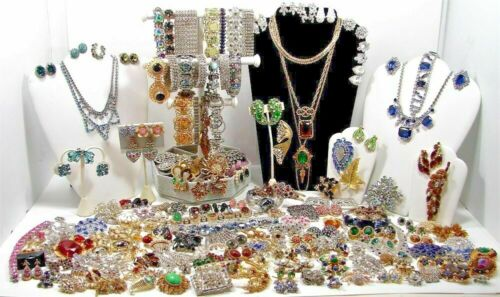 1 LB Pound Jewelry Vintage Modern Huge Lot ALL GOOD Wear RESELL Pirate Treasure