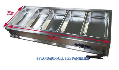 Techtongda Full Size Pan Food Warmer Steam Table 110v 1500w 11 Gn Pan304 Steel