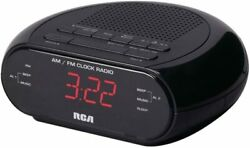 RC205 RCA Dual Wake Alarm Clock Radio AM/FM W/Red LED Display NEW