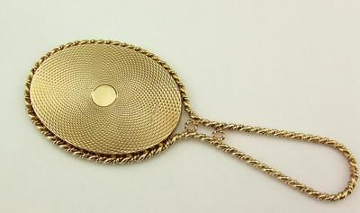 VINTAGE 9CT  SOLID GOLD HAND MIRROR LONDON 1986