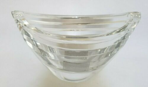 Lenox Ovations Tides Bowl Hand Cut Full Lead Crystal Oval Candy/Nut/Trinket Dish