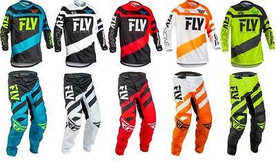 2018 Fly Racing F 16 Jersey Pant Gear Combo Motocross Dirt Bike Atv Off Road F16