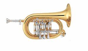 GiMa Kornett (Bb) mit Drehventilen, Flügelventilen, wunderbares Schulinstrument
