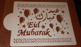 Eid Mubarak stencil for decorate your cake or use in craft projects