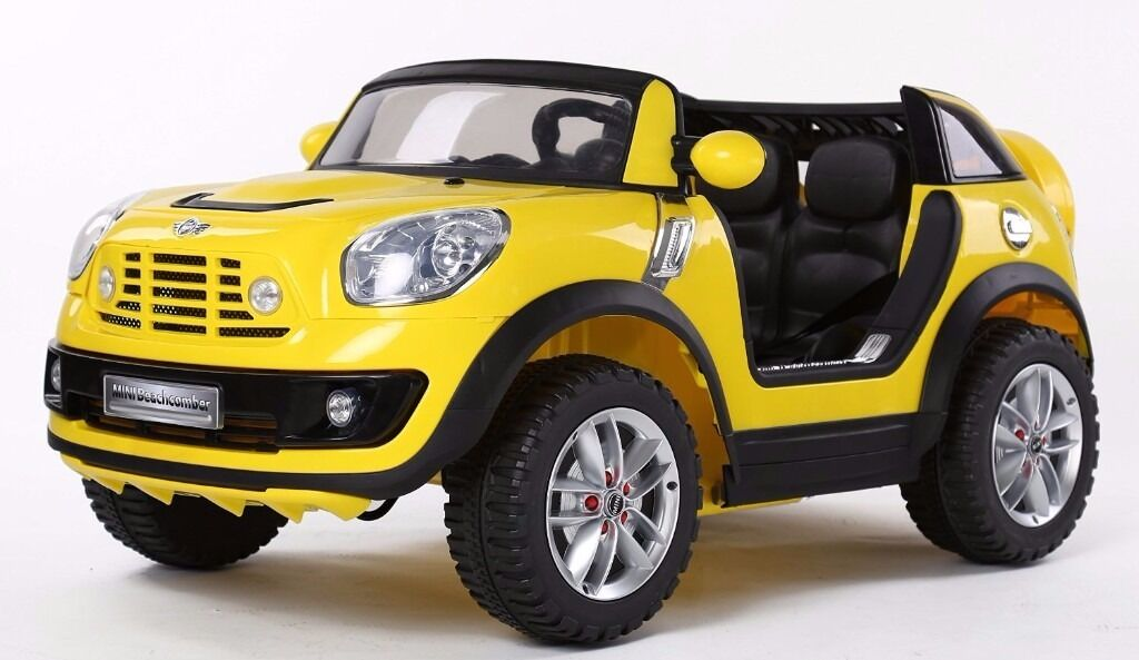 12v licensed mini cooper beachcomber kids electric toy car stock clearance 7