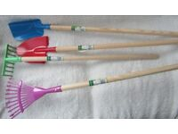 Brand New Children's Gardening Wooden Handled Tools £5.00 each