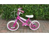 """Girls Pink 14"""" Bicycle- Great Condition"""