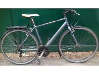 19 inch Pinnacle Borealis BIKE alloy HYBRID road city adults bicycle with mudguards and rack