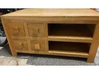 £30 Solid light Oak Tv unit **collection only**