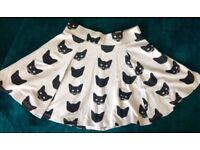 Cat Print Skirt Size XS/8