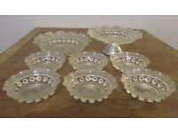 Vintage glass cake and dessert set - 1950s (very Great British Bake Off!)
