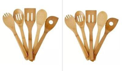 2 Packs Good Cook Bamboo Kitchen Tool Set 25850 Utensils 5 Piece (10) Lot Good Cook Bamboo