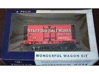 PECO Wonderful Wagon Kit Kit Built Salt Van 'Stafford Salt Works'