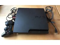 PS3 Slim 160GB Good Condition - No controller charging cable