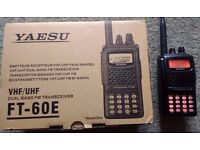 Yaesu FT60 Dual Band Transceiver