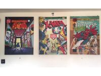 Three Marvel Canvases