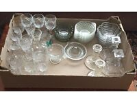 For Sale Mix Of Glassware