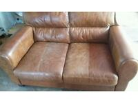 Brown dfs couch