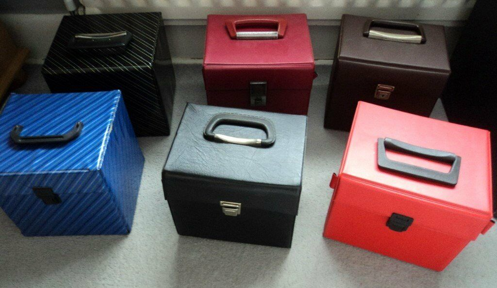 Job Lot Of 6 X 7 Inch Vinyl Singles Record Cases Storage Boxes