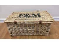 Fortnum & Mason Picnic Hamper With Buckles and Handle
