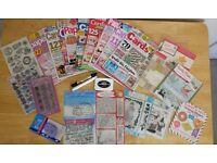 Papercraft Bundle *Magazines, Stamps, Dies, Papers, Pens, Memento Ink* *Job Lot*